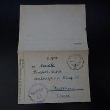 ALLEMAGNE LETTRE FELDPOST BRIEF 14.08.1943 -> STRASSBURG