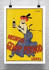 Absinthe Gempp Pernod Vintage Leonetto Cappiello Poster Canvas Giclee 24x32 in.