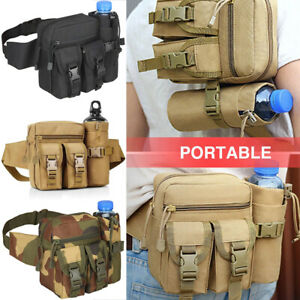 Tactical Fanny Pack Pouch with Water Bottle Holder Molle Waist Pack Hip Belt Bag