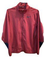 Nike Jacket Full Zip Mens Mens Medium Red Dri Fit Lightweight Windbreaker