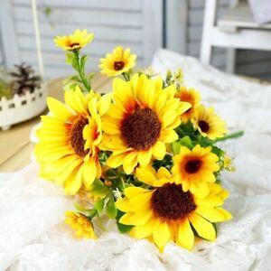 1 beautiful sunflower bouquet silk flower high quality artificial flower home ga
