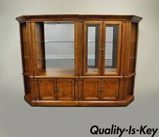 4 Pc Thomasville British Gentry Wall Unit Display Cabinet Bookcase Bookshelf