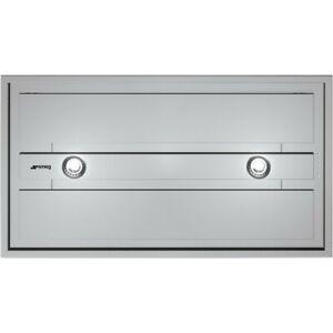 SMEG KSEG90XE Montage Ventilateur de Plafond Hotte 90cm Inox Télécommandé