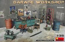 Miniart 35596 Garage Workshop Scale Plastic Model Kit 1/35
