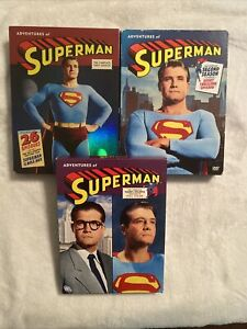 ADVENTURES OF SUPERMAN DVD COMPLETE SEASONS SERIES 1 2 3 4 BOX SETS