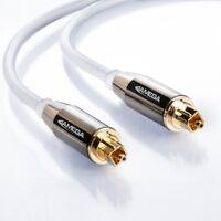 2m Toslink Premium HQ von JAMEGA | Optisches Audiokabel LWL SPDIF Digital - Weiß