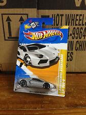 Hotwheels Lamborghini Aventador Silver HW Showroom MONMC HTF PR5 Wheels Mattel
