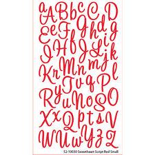 EK SUCCESS STICKO SWEETHEART SCRIPT RED GLITTER ALPHABETS SCRAPBOOK STICKERS