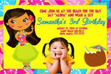 Hawaiian Luau Beach Personalized Birthday Invitation