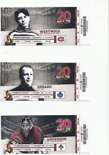 OTTAWA SENATORS VS MONTREAL CANADIENS RAT WESTWICK FULL TICKET STUB 11/4/11