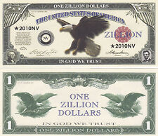 Zillion Dollar Novelty Money Bill #355
