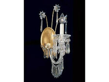 Single Candle Crystal Candelabra Light Fixture Wall Sconce Lamp NEW