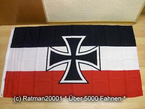 Fahne Flagge Deutsches Reich Gösch der Schiffe NEU - 90 x 150 cm