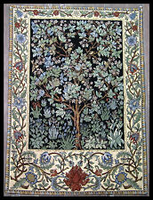 TAPIZ DE ITALIA Tapiz William Morris árbol de la vida árbol OF LIFE 70x90 cm