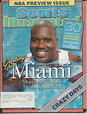 """Sports Illustrated 10/25/2004 """"Greetings From Miami"""" Heat - Shaquille O'Neal"""