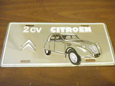 Embossed Metal French License Plate 2CV CITROEN LOGO tag OLD STOCK