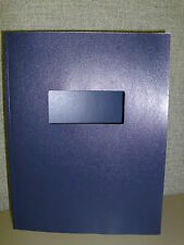 "100 NAVY LEATHERFLEX w/window Thermal Binding Covers (6mm / 1/4"" 35-55pgs)"