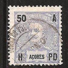 AZORES, PORTUGAL # 106 Used KING CARLOS