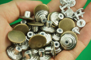 20x 17mm Mens Bachelor Metal Buttons For jeans Suspenders Replacement Instant