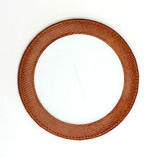 Med. Brown Leather  Magnetic Coaster orOrnament for Needlepoint by LEE  Canvas