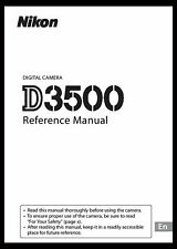 New listing Nikon D3500 Instruction Owner User's Manual Book