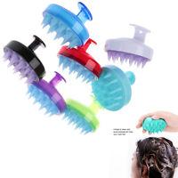 1Pc Silicone scalp shampoo shower washing hair massage massager brush c PM