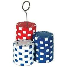 Poker Chips Photo or Balloon Holder Casino Vegas Gambling Party Accessory