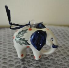NEW Boleslawiec Polish Pottery Ornament ELEPHANT Ceramic