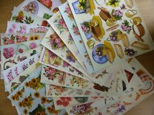 *NEW* 20x Mixed A4 Sheets of FLORAL FLOWERS (TBZ Traditional Embossed) Decoupage