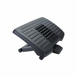 Mind Reader Adjustable Height Ergonomic Foot Rest with Massage Rollers Black