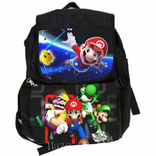 Unsiex Super Mario Bros Canvas Backpack SchoolBag Casual Bookbag