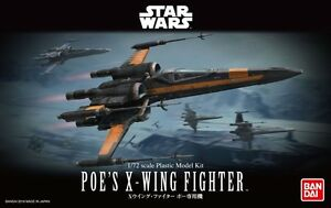 Bandai 1/72 Scale Model Kit Star Wars The Force Awakens Poe's X-Wing Fighter