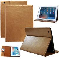 Premium Cover Apple iPad 2 3 4 Leder Tablet Schutzhülle Smart Case Tasche gold