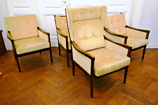 4 designer Armlehnen Stühle Sessel Teak Wingchair scandinavian chair danish