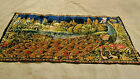 Vintage Peacock Floral Rug / Wall hanging Tapestry  Italy Original 37x18