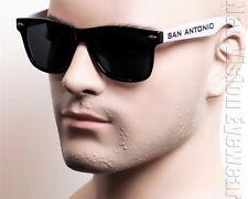 San Antonio Team Wayfarer Sunglasses Dark Smoke Grey Black Two Tone K30SA