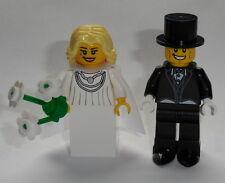 TOWN  Lego Bride Blonde Hair & Groom Black Tux NEW Authentic Lego parts