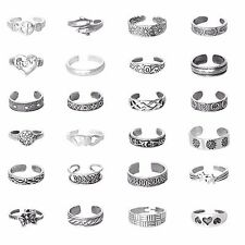 USA Seller 24 Pieces Toe Rings Set Sterling Silver 925 Best Price Jewelry Gift