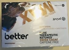 PRUVIT KETO MAX Swiss Cacao 20 CAFFEINE FREE New Sealed Box Chocolate Exp 10/18