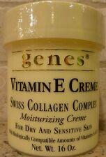 Genes Vitamin E Creme Swiss Collagen Complex - For Dry & Sensitive Skin - 16 oz