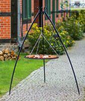 Korono Dreibein Schwenkgrill mit Kurbel, Edelstahl Rost Ø 50-80 cm, Hand Made