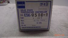 New: OMRON E5K-95IC-1 SOLID STATE TEMPERATURE CONTROLLER