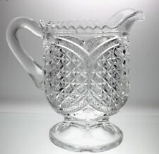 Antique American Brilliant Period Creamer Pressed Glass
