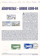 Document Philatélique Timbre 1er Jour : 10/04/ 1999 - Aéropostale - Airbus