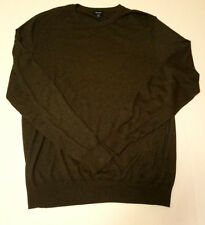 Mens Faconnable Gray Silk Cashmere Blend Sweater Pullover Size XXL Tall 2XLT