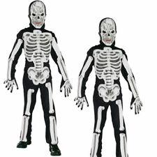 Kids Eva Skeleton Costume Jumpsuit Boys Girls Halloween Party Fancy Dress Outfit
