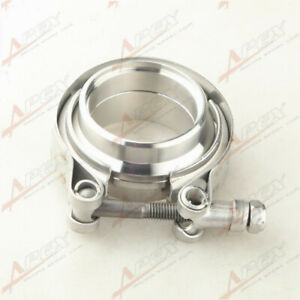 """2"""" 50mm Stainless Steel V Band Clamp + Stainless Steel Male /Female Flange"""