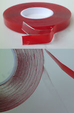TRANSPARENT Clear Silicone Acrylic Gel Self-Adhesive Double Sided Tape 9mm x 5m