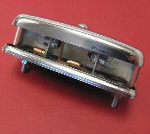 Stainless Rear Number plate lamp Land Rover Series 1 2 3 2a I II light chrome