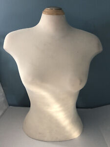 Female Mannequin Tailor Dress Form- Half Body Shirt Display- Size S/M- Clothes